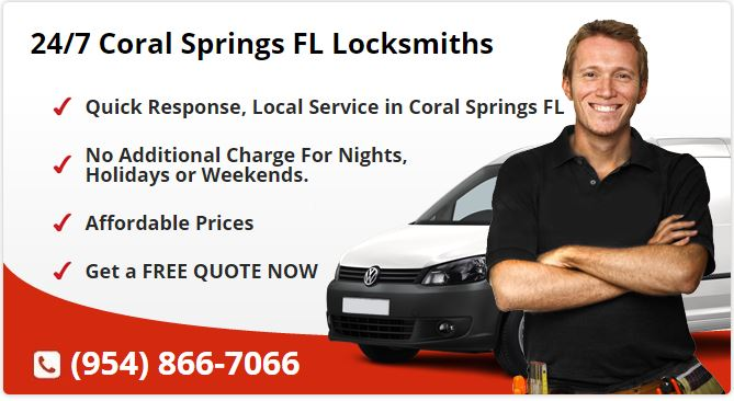 24 Hour Locksmith Coral Springs FL